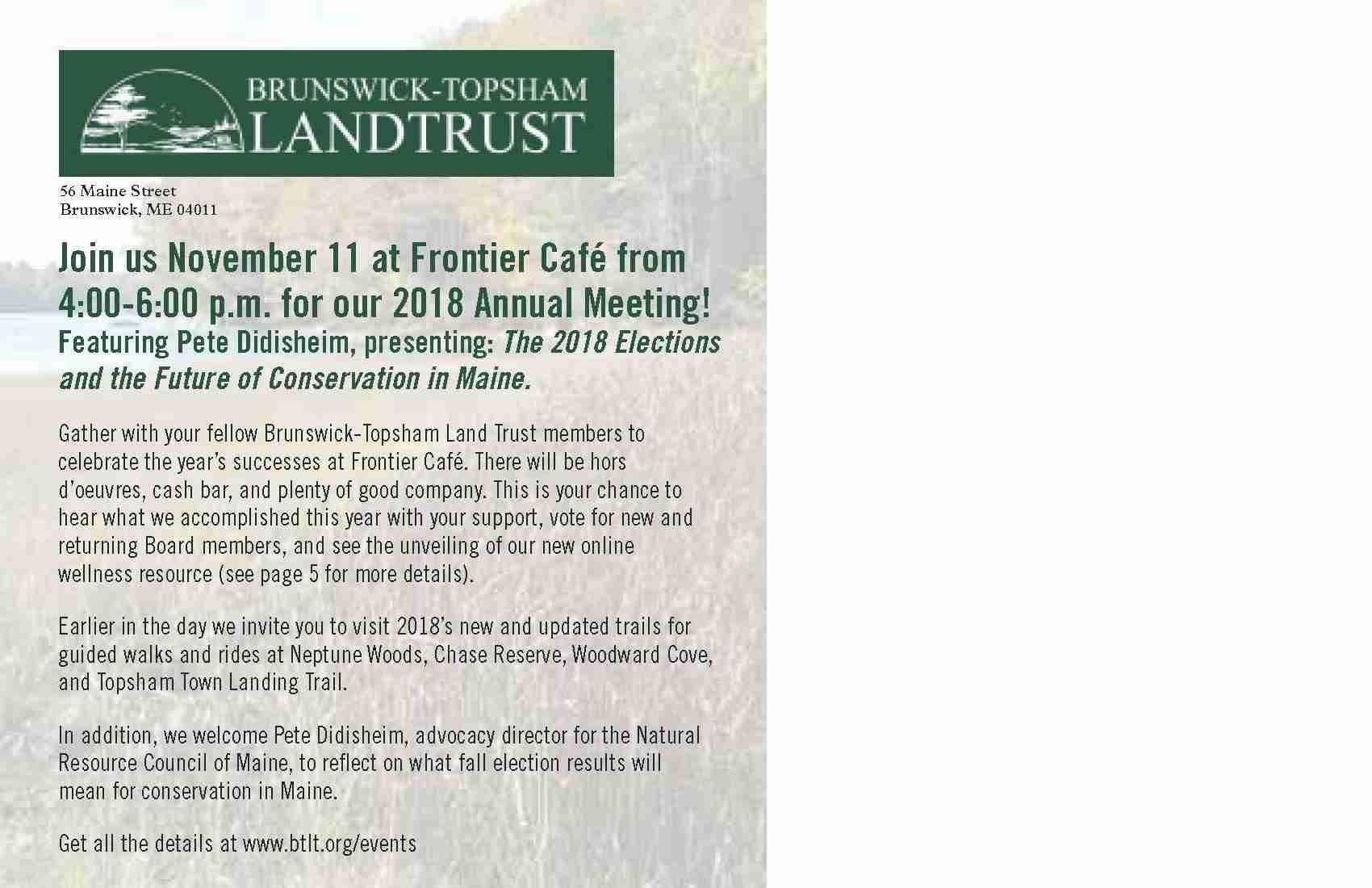 Annual Report - Brunswick-Topsham Land Trust