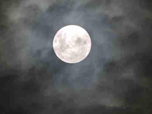 Night Full Moon Cloud Sky